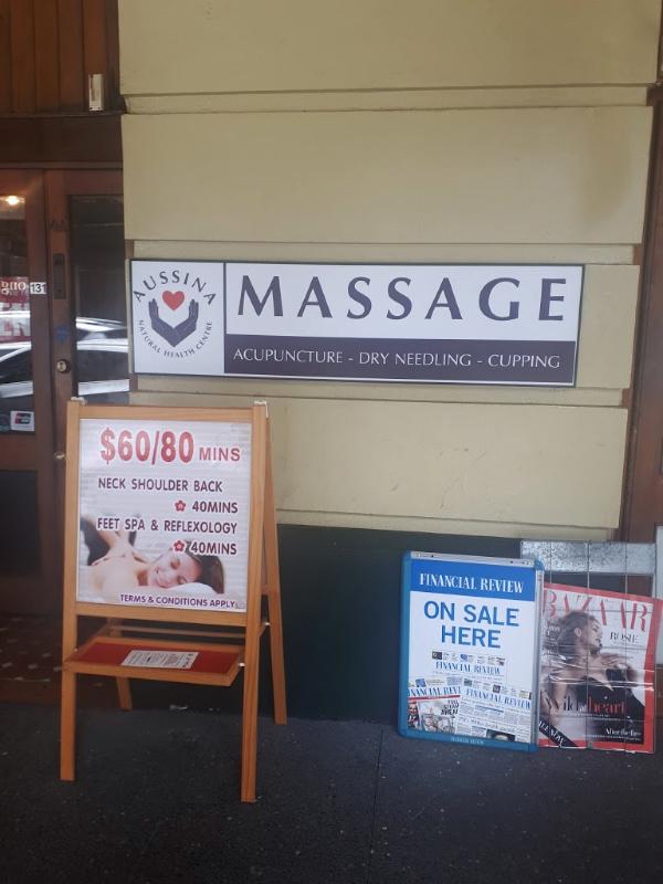 After-Flight Massage at Aussina Natural Health Centre