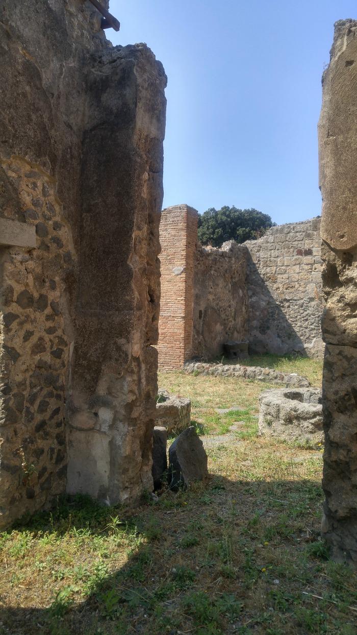 Ancient Houses in Pompeii Italy