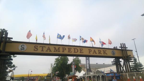 Stampede Park Sign