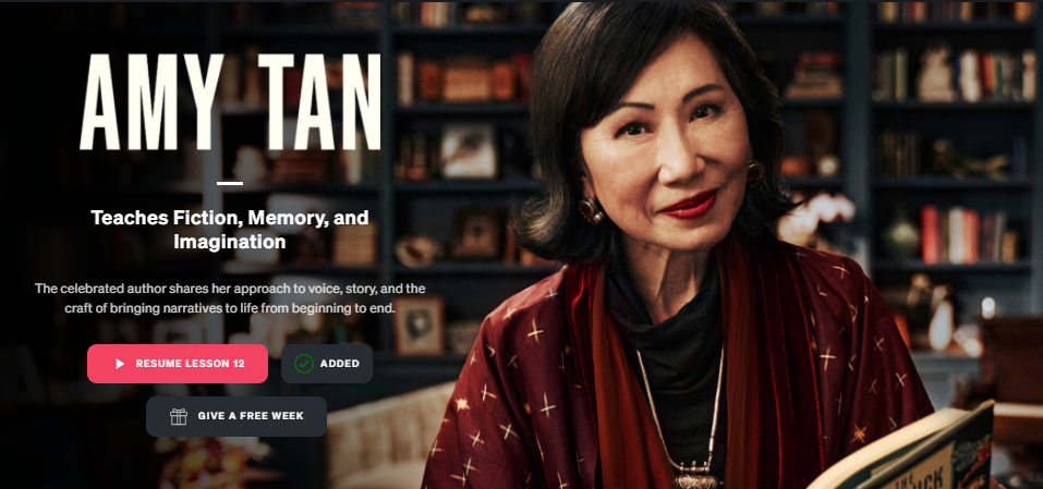 Amy Tan MasterClass Review: If You're a Writer, This Class Is For You