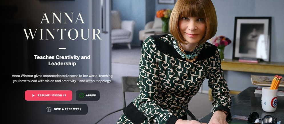 Anna Wintour MasterClass Review - Lessons from a Fashion Icon