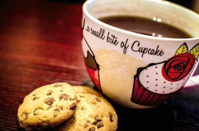 Delicious Cup of Hot Chocolate - Served With Cookies