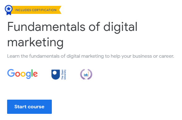 Google Digital Marketing Free Certification Course