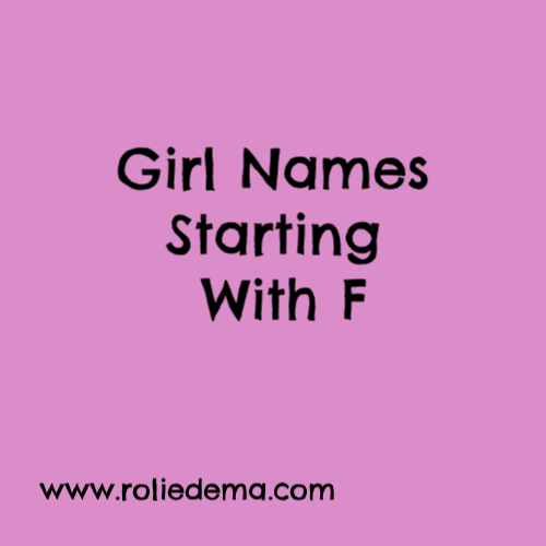 Girl Names Starting With F