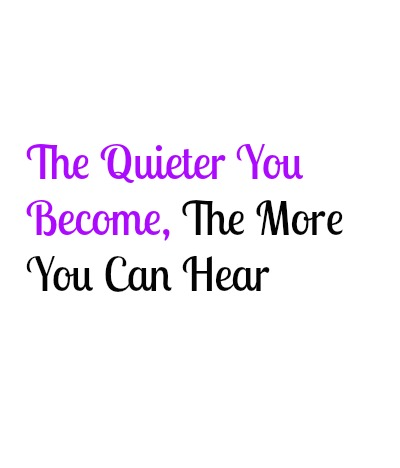 The More You Can Hear...