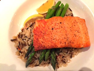 Oven Baked Salmon @ Keg's Steakhouse