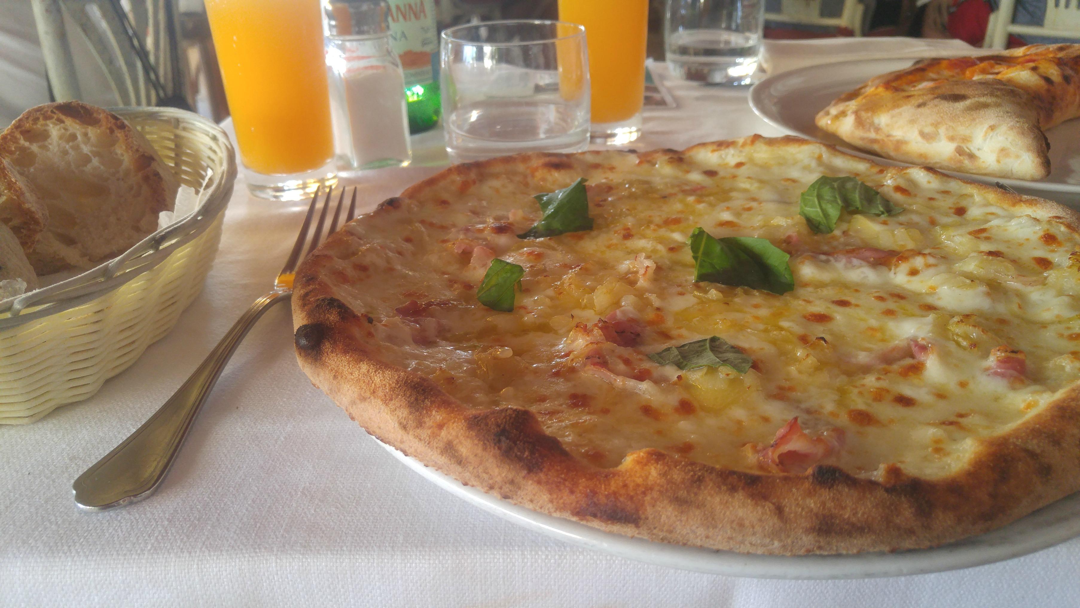 Neapolitan Pizza in Positano, Italy