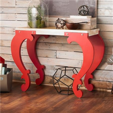 Scroll Leg Console Table : shadesoflight.com
