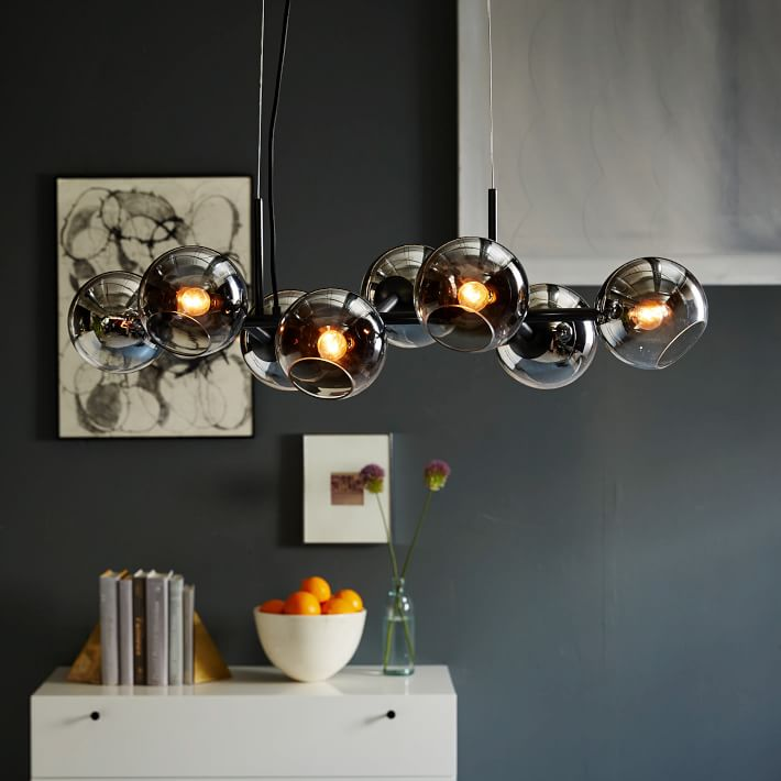 Staggered Glass Chandelier- 8-Light : westelm.com