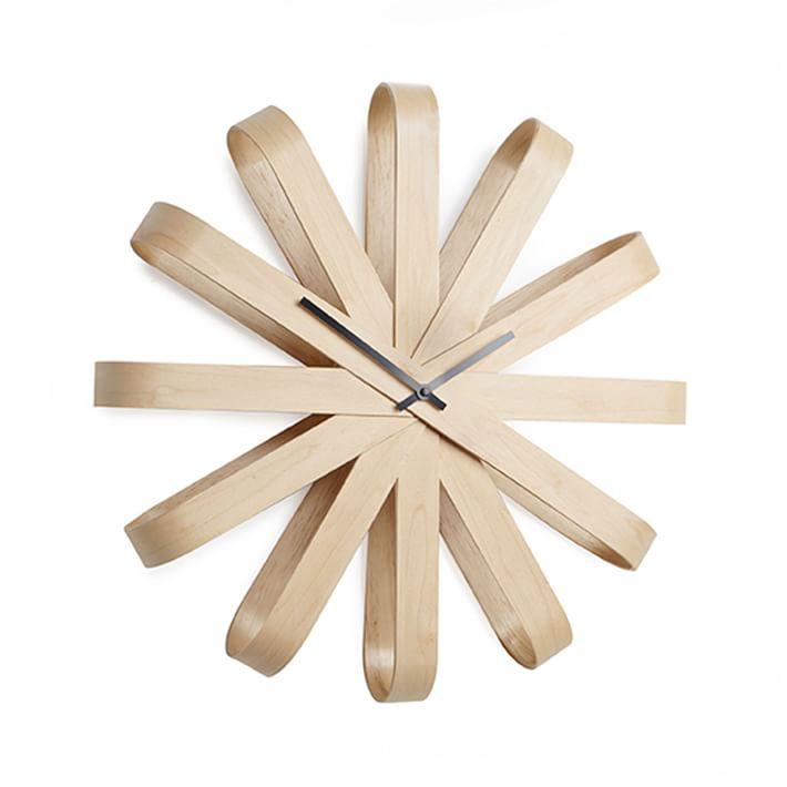 Umbra Ribbonwood Clock: westelm.com