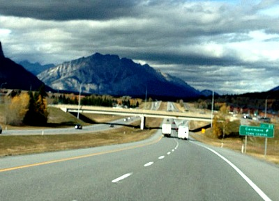 Way to Banff National Park, Canada