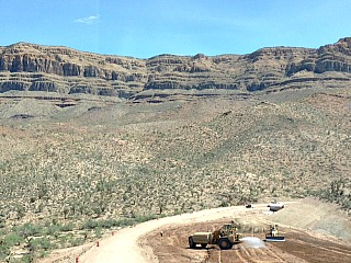 This is a view of the Grand Canyon West