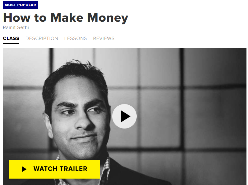 How to Make Money by Ramit Sethi - One of My Favourite CreativeLive Classes.
