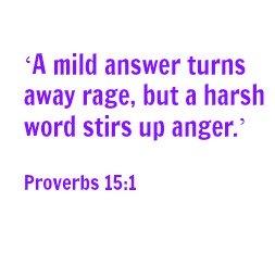 A Mild Answer Turns Away Rage