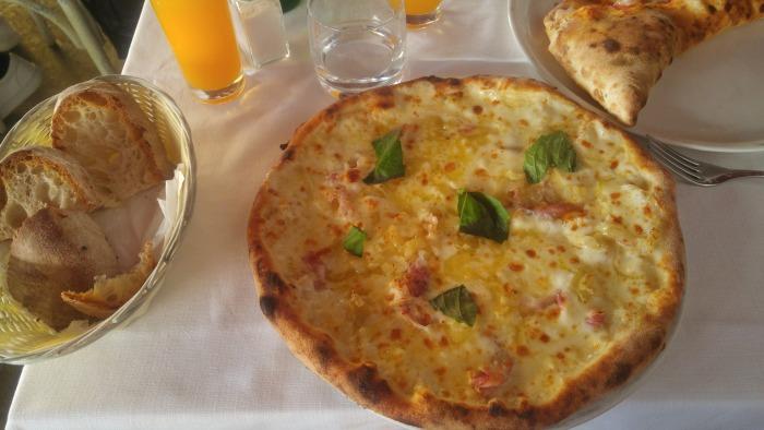 Pizza in Positano Italy
