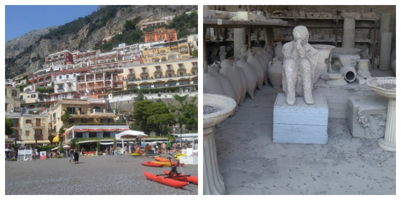 Pompeii and Positano Italy