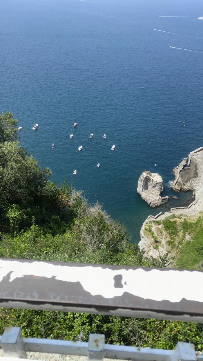 Boats in Positano, Italy
