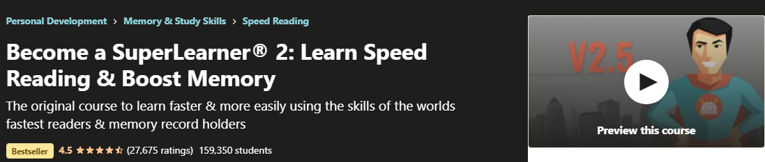 Become a Superlearner Speed Reading Course